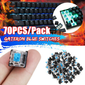 70PCS Pack 3Pin Gateron Clicky Blue Switch for Mechanical Gaming Keyboard