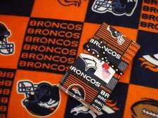 Burp cloth & Fleece Blanket set Denver Broncos Newborn Infant Toddlers Nursery