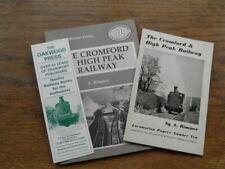 More details for cromford & high peak railway- rimmer 1956 + oakwood press new ed 1985 & bookmark
