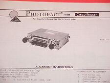 1975 MEDALLION AM-FM-MPX RADIO SERVICE MANUAL 65-414 CHEVROLET FORD CHRYSLER
