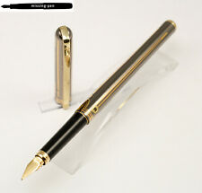 "Elysee Corona Gold Fountain Pen ""Empire"" 24/12 Karat electroplated with M-nib"
