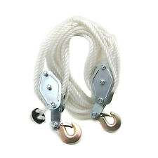 2 Ton Poly Rope Hoist Pulley Wheel Block And Tackle Puller Rigging Engine Lift
