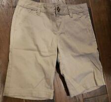 Girls Tan Khaki Bermuda Chino Uniform Shorts Size 10 Old Navy Euc