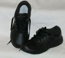 NEW BALANCE 813 Walking Mens Size 9.5 Black Leather Rollbar Athletic Shoes