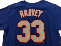 New York Mets Jersey Shirt, #33 Matt Harvey, Mens Size Large, Blue