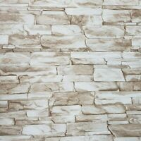 Wallpaper textured brown white modern faux realistic sandstone stone texture 3D