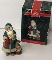 Hallmark Keepsake 1992 Merry Olde Santa Ornament Collectible Horn Teddy Bear