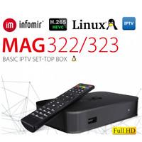 MAG 322/323 ORIGINAL Original From Infomir Linux IPTV/OTT /HEVC BOX