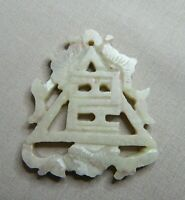 OLD CHINESE CARVED JADE SCULPTURE PENDANT  SN749