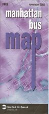 Official November 2005 Manhattan Bus Map New York City Transit Authority Routes