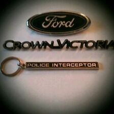 "1999-2011 Ford Crown Victoria ""Police Interceptor"" P71 emblem keychain(only)"