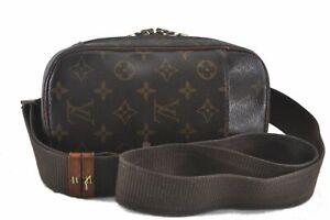 Authentic Louis Vuitton Monogram Pochette Gange Cross Body Bag M51870 LV C0135