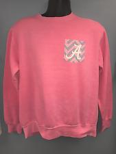 University of Alabama Ladies Pink Sweatshirt with Printed Chevron Pocket Design