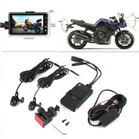 "Motorcycle 3""LCD DVR Video Front/Rear Waterproof Dual Camera Recorder Camcorder"