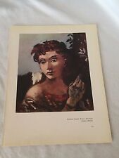 Roland Oudot Nocturne Andre Marchand The Arlesienne Modern Art Print Vntge 20941