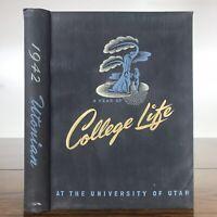 1942 Utonian - University of Utah Yearbook 1941-42 (Vintage Original 40's)