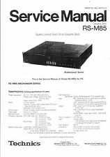 Technics Service manual für RS-M 85