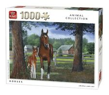 1000 Piece Animal Collection Jigsaw Puzzle - HORSES Ponies & Foal Paddock 05386