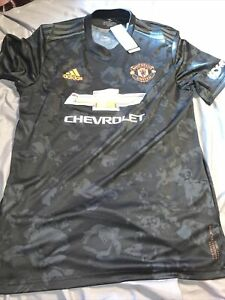 Adidas Manchester United 19-20 3rd jersey Black Orange Size L Men's Only