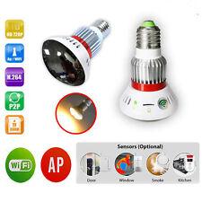 LED Mirror 720P WiFi Bulb IP Network Hidden Cam White Light Back to School Sale