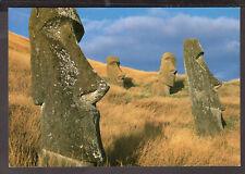 1136 CHILE EASTER ISLAND ISLA DE PASCUA MOAI POSTCARD ARCHAEOLOGY