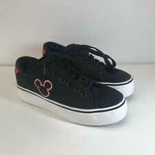 Disney Mickey Mouse Shoes Black UK Size 3 - Excellent Condition