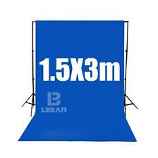 Deep blue Screen Chroma key 1.5 x 3M Background Backdrop for Studio Photo lighti