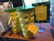 New Starbucks Hawaii 2016 Pineapple Grande 16 oz. Metal Tumbler Cold CUP Mug