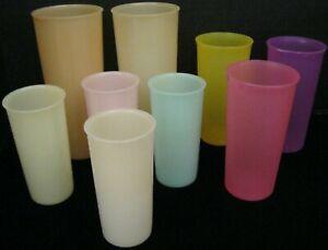 LOT OF 9 TUPPERWARE PLASTIC DRINKING GLASSES