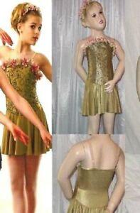 Victoria's Waltz Dance Costume GREEN Tap Baton Dress Clearance Child 4 = Small