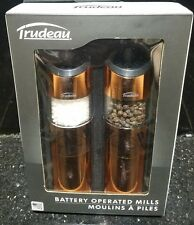 Trudeau from Williams-Sonoma Graviti Copper Electric Salt & Pepper Mill Set NEW