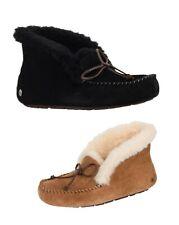 Новые Ugg женские 1004806 пушистый воротник тапочки удобные туфли каштан новый в коробке Алена