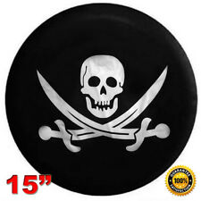 Universal 15'' SKULL Car Spare Wheel Tire Cover RV Truck SUV Camper Wheelcover