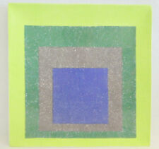 JOSEF ALBERS Study For Homage To A Square Plate Limited Ed on Ceramic MUSEUM Art