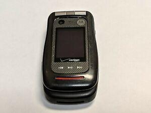 Motorola v860 Barrage Verizon Wireless Black Flip Cell Phone *Fully Tested*