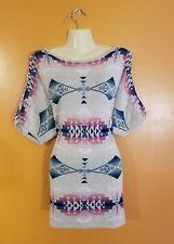 Womens Plus Size 2XL Ralph Lauren Chaps Southwest Aztec Sweater Shirt Top Layer