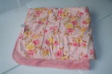 Koala Baby Boutique Baby Blanket Super Soft Pink Plush & Floral Velour