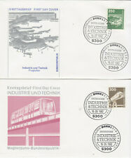 Germany  FDCs 1982 Industrie and technology on five covers