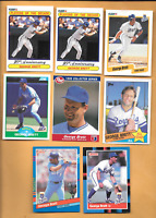 1990 Fleer #621 George Brett Error & 7 George Brett Kansas City  Royals Cards