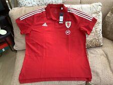 Adidas Wales Football Polo Shirt Season 2020/21 Size 2Xl Brand New With Tags