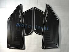 CNC Front Rear Footplate Yamaha TMAX TMAX530 XP530 Black Footboard Footrest