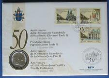 s231) Vatikan Numisbrief 50. Priesterjubiläum Papst Jojannes Paul II. NB 1996