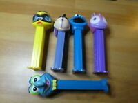 LOT OF 5 PCS PEZ DISPENSER CANDY RARE FIGURE/FIGURINE MUPPETS ETC SET #012