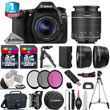 Canon EOS 90D DSLR Camera + 18-55mm IS - 3 Lens Kit + 1yr Warranty - 64GB Bundle