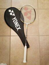 Yonex Nanoray 10 Badminton Racket (White / Yellow) with Cover 3 oz Weight.