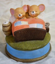 San Francisco Music Box Company Rotating Mice in Bed It's a Small World ceramic