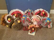 Beanies 9 Turkey Beanie's in lot for Thanksgiving Holiday