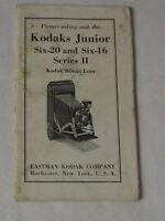 KODAKS JUNIOR SIX-20 AND SIX-16 SERIES II Eastman Kodak 1939 MANUAL