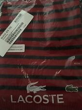 Lacoste Scarf Striped Small Unisex Brand New With Tags Red Marine Blue
