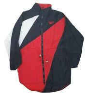 Vtg 90s size small Reebok Windbreaker Track Jacket Color Block red white black